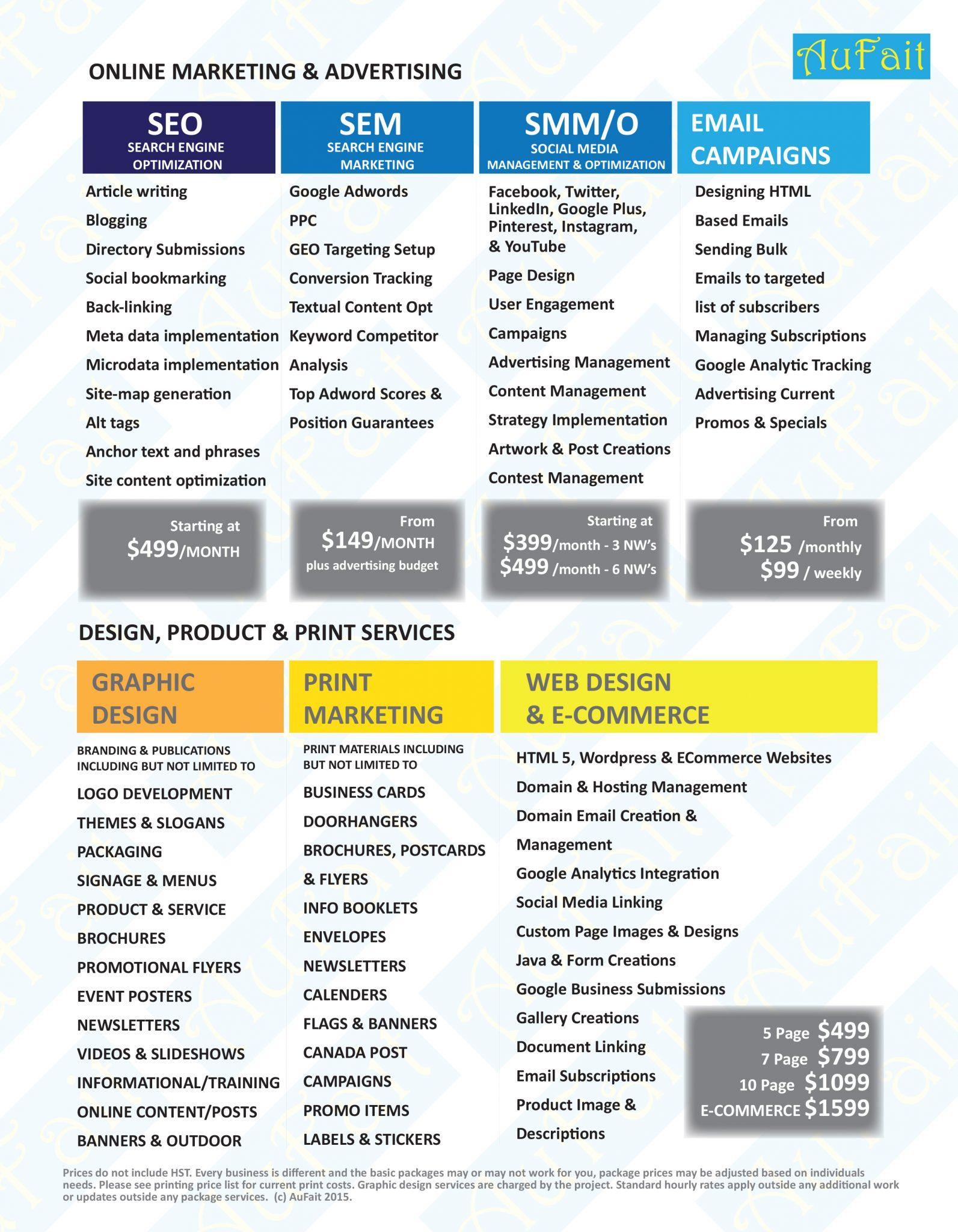 aufait service sheet